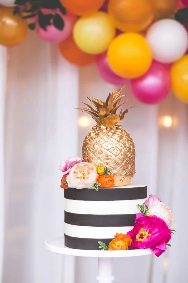 TROPICAL INSPIRED ENGAGEMENT BRIDAL SHOWER IDEAS (16)