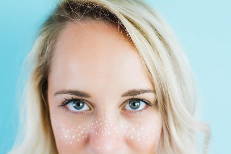 Festival Freckle Makeup Metallic Face art Weddings Bridal Festival themed wedding_