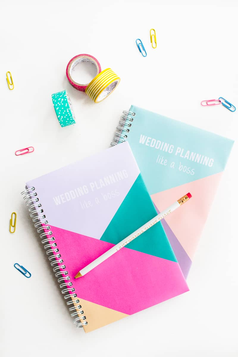 Free printable notebook cover wedding planning geometric modern notes stationery-1