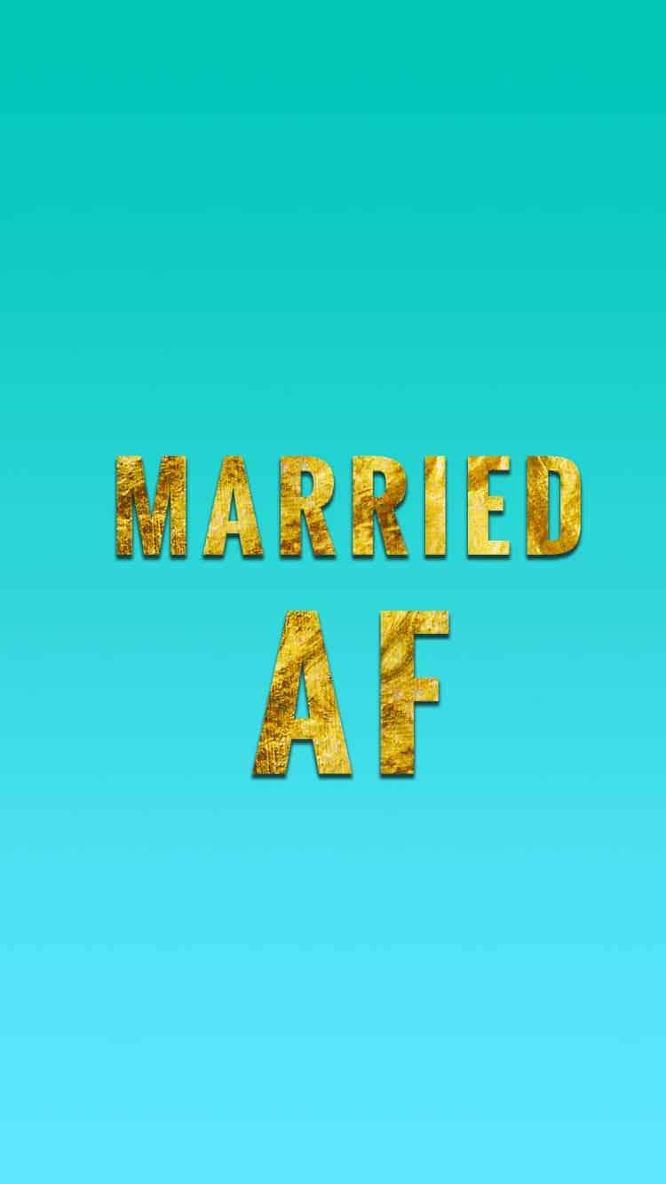 MARRIED AF BLUE GOLD iphone 6