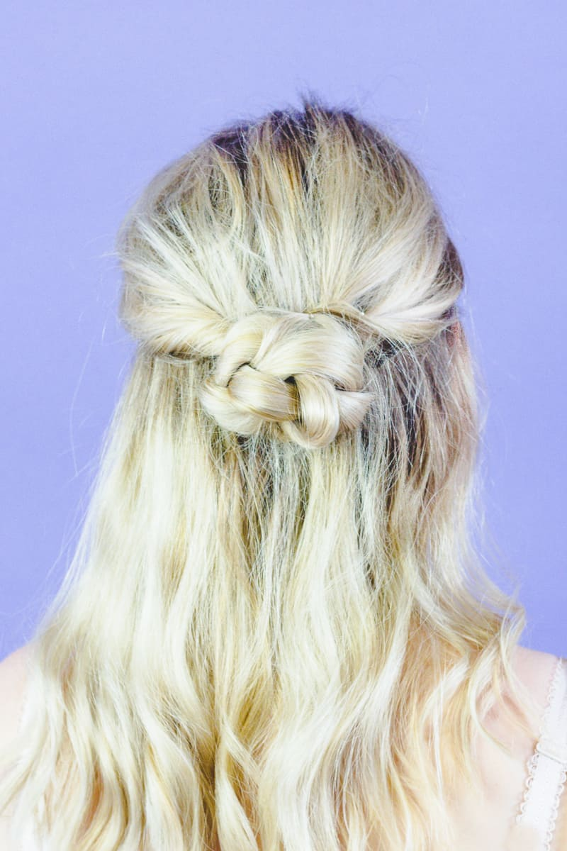Natural Wedding Hairstyle Ideas Bohemian Hair Styles easy simple bride-5