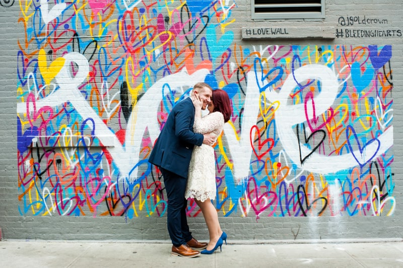 SWEET NYC, BROOKLYN BRIDGE ELOPEMENT COLOURFUL WALL MURALS (5)