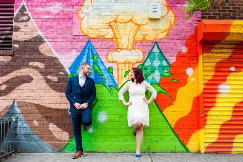 SWEET NYC, BROOKLYN BRIDGE ELOPEMENT COLOURFUL WALL MURALS (7)