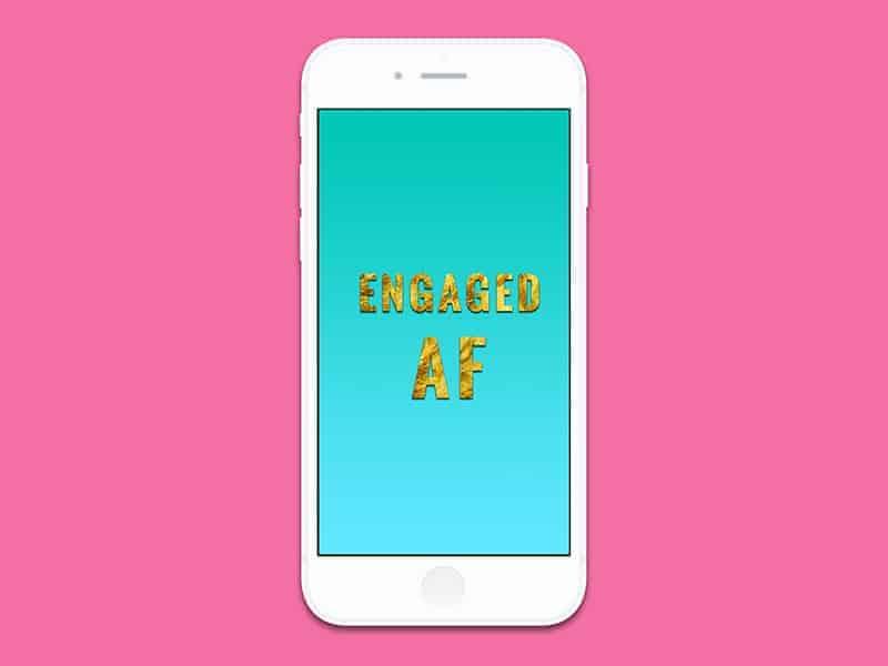 iPhone6 engaged AF blue