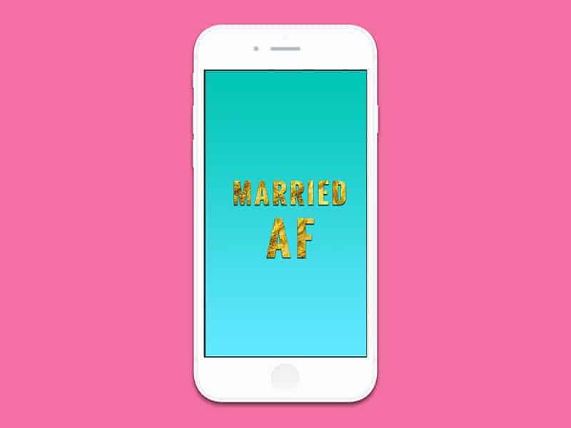 iPhone6 married AF blue