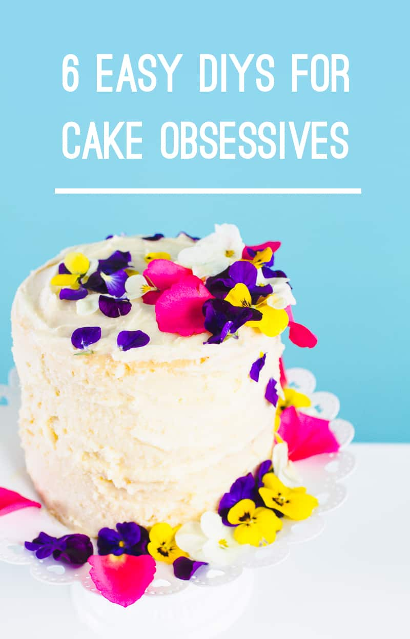 6 Easy Cake tutorials decorating DIYs cake toppers