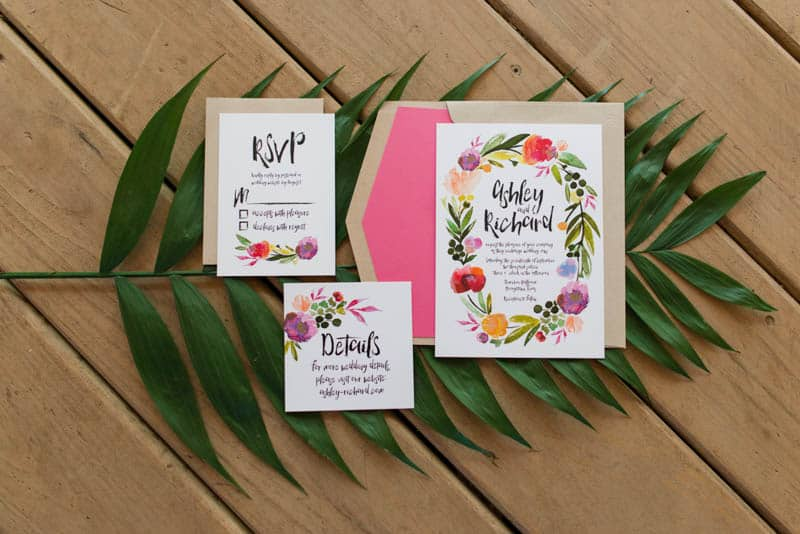 BOLD & VIBRANT HOT PINK CORAL BOHEMIAN STYLING WEDDING IDEAS (1)