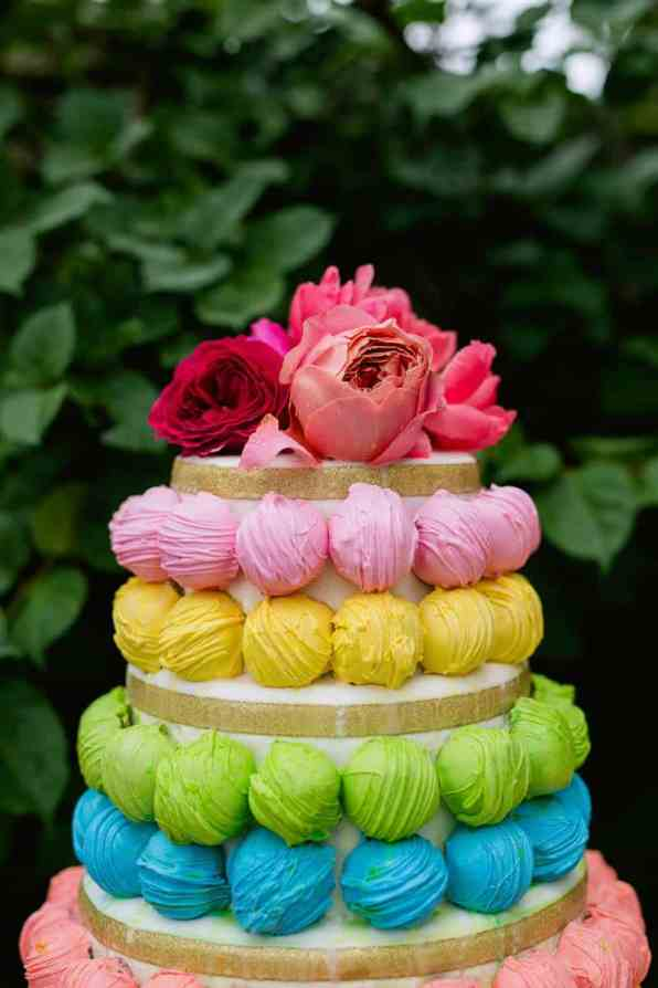 COLOURFUL TROPICAL PINK BRIDAL SHOWER WITH RAINBOW DESSERTS (23)