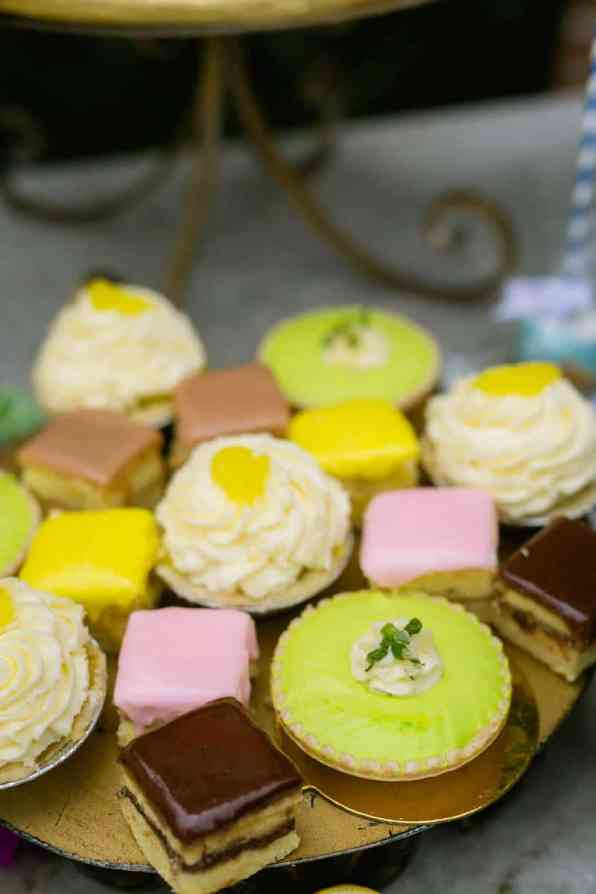 COLOURFUL TROPICAL PINK BRIDAL SHOWER WITH RAINBOW DESSERTS (24)