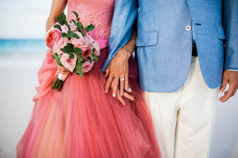 REAL LIFE CINDERELLA FAIRY TALE WEDDING IN THE BAHAMAS WITH A PINK VERA WANG DRESS (10)