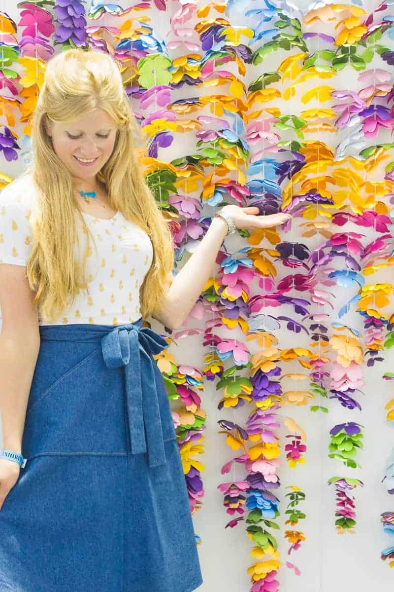 diy-floral-flower-backdrop-bright-colourful-altar-photobooth-cascading-modern-fun-wedding-10