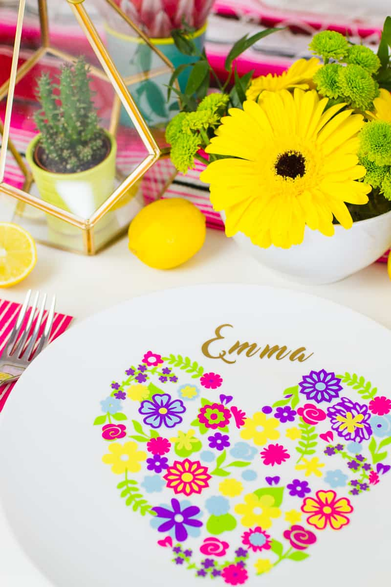 Diy Floral Plate Place Setting For Your Colourful Wedding Table