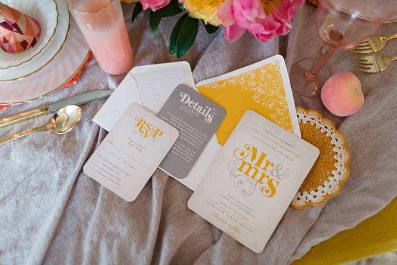 fun-colourful-yellow-coral-peach-wedding-and-bridal-shower-ideas-23
