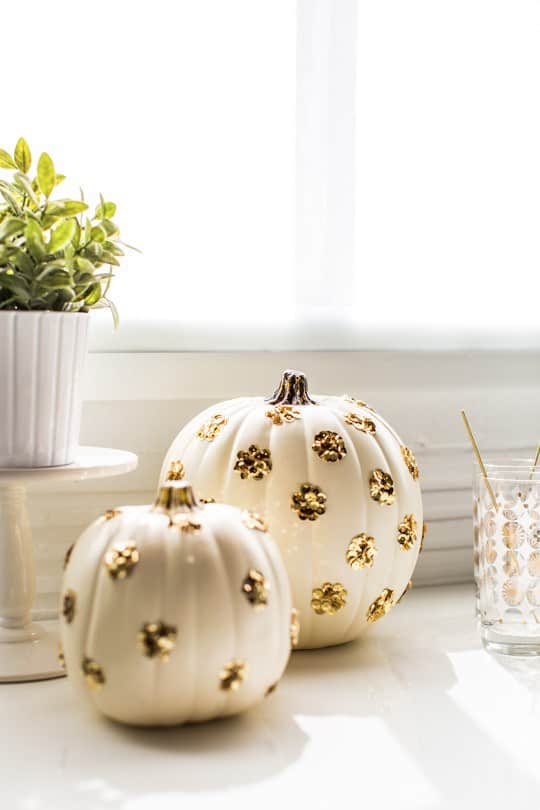 gold-polka-dot-sequin-pumpkins-for-halloween-2