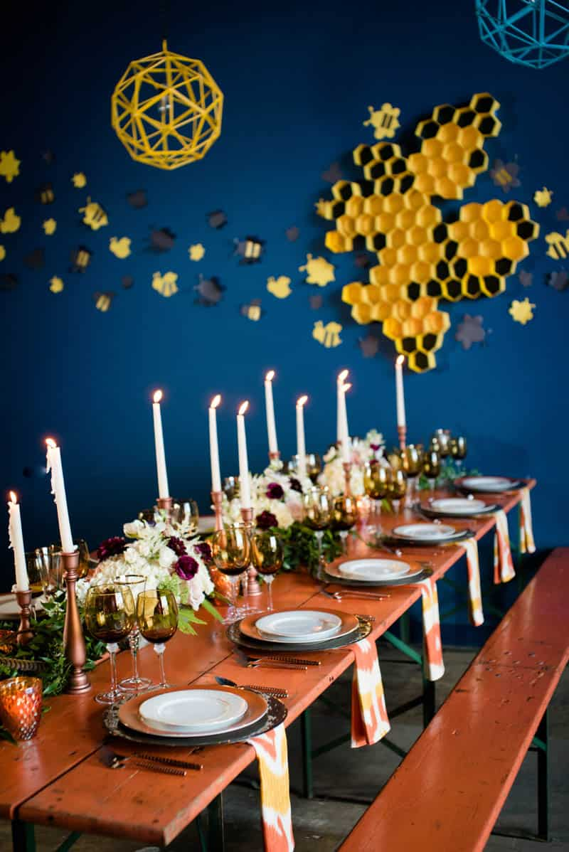 bee-themed-wedding-ideas-in-a-brewery-9
