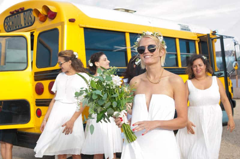 yellow-school-bus-unique-wedding-transport-car