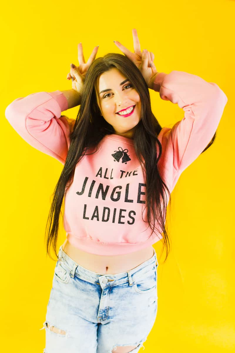 diy-slogan-graphic-christmas-jumper-diy-iron-on-all-the-jingle-ladies-cricut-pink-black-glitter-3