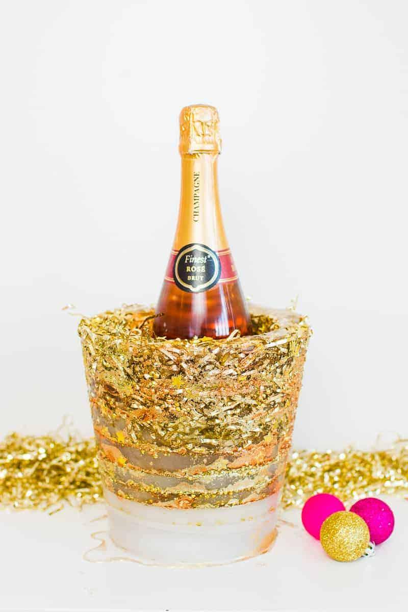 diy-glitter-ice-bucket-christmas-gold-metallic-confetti-bronze-copper-centrepiece-wine-cooler-champagne-11
