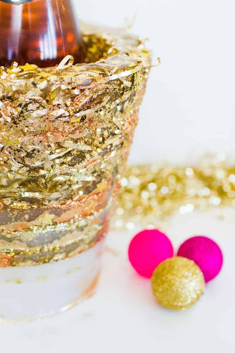 diy-glitter-ice-bucket-christmas-gold-metallic-confetti-bronze-copper-centrepiece-wine-cooler-champagne-9