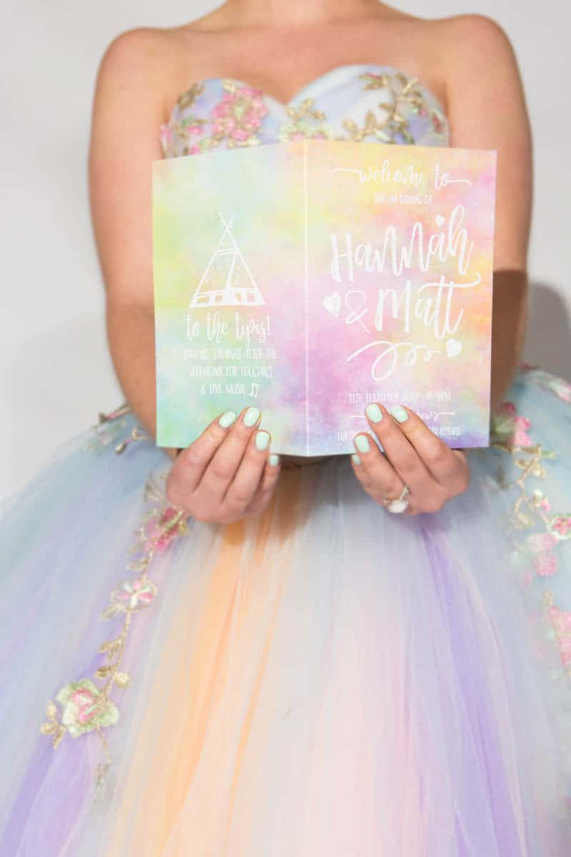 COLORFUL UNICORNS AND RAINBOWS THEMED WEDDING IDEAS (32)