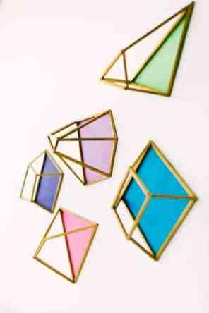 Ruffled - photo by Emily Chidester DIY by Studio Cultivate for Ruffled https://ruffledblog.com/diy-geometric-wall-decor