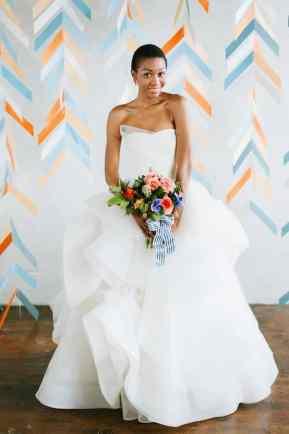CREATIVE DIY WEDDING PARTY BACKDROPS-HERRINGBONE PHOTOBOOTH BACKDROP