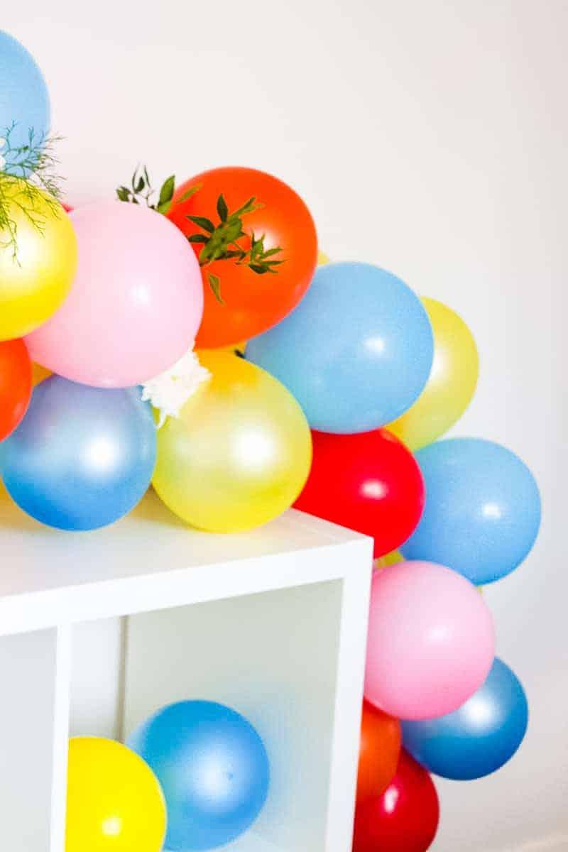 DIY Balloon Backdrop Arch Colourful Fun-13