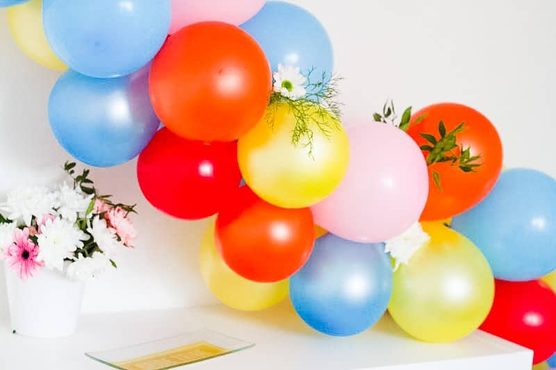 DIY Balloon Backdrop Arch Colourful Fun-14