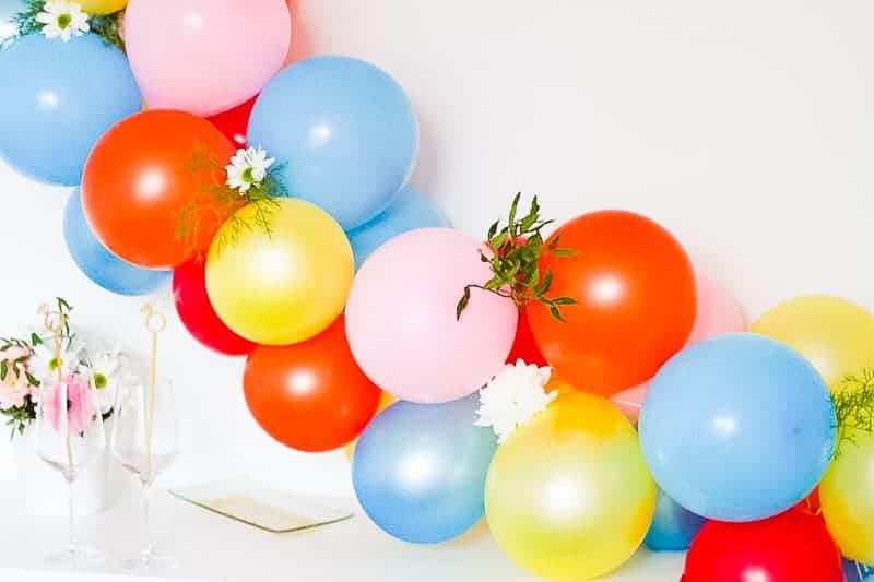 DIY Balloon Backdrop Arch Colourful Fun-6