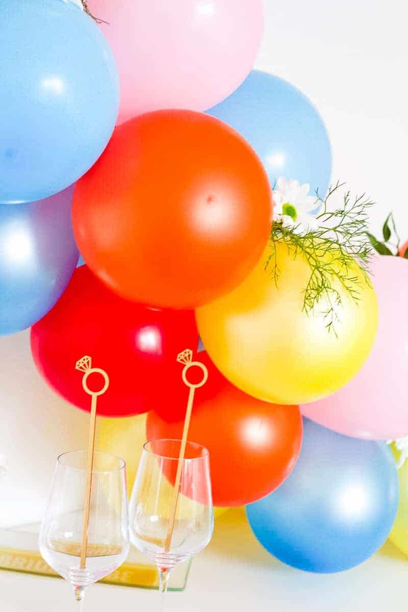 DIY Balloon Backdrop Arch Colourful Fun-8