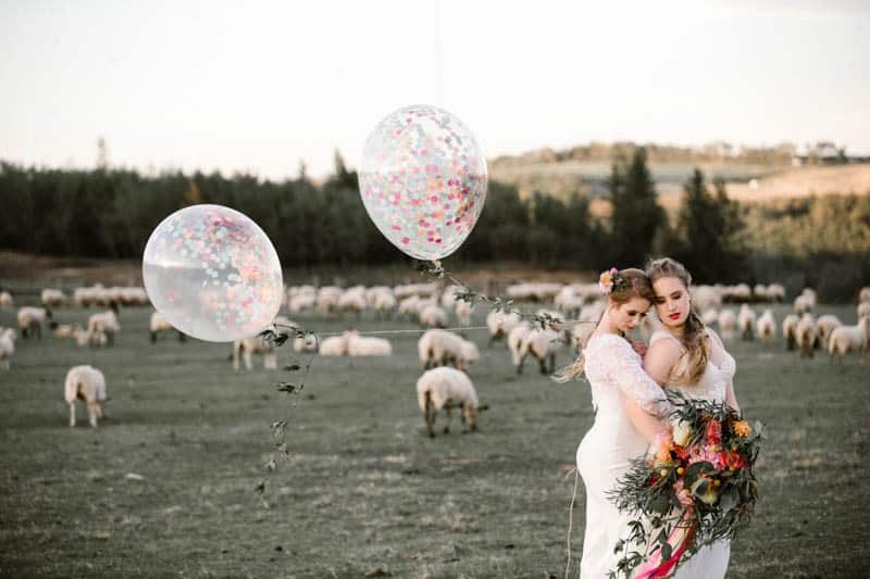 PLAYFUL & ROMANTIC KATY PERRY INSPIRED WEDDING WITH COLORFUL BALLOON ARCH (20)