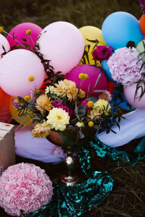 PLAYFUL & ROMANTIC KATY PERRY INSPIRED WEDDING WITH COLORFUL BALLOON ARCH (8)
