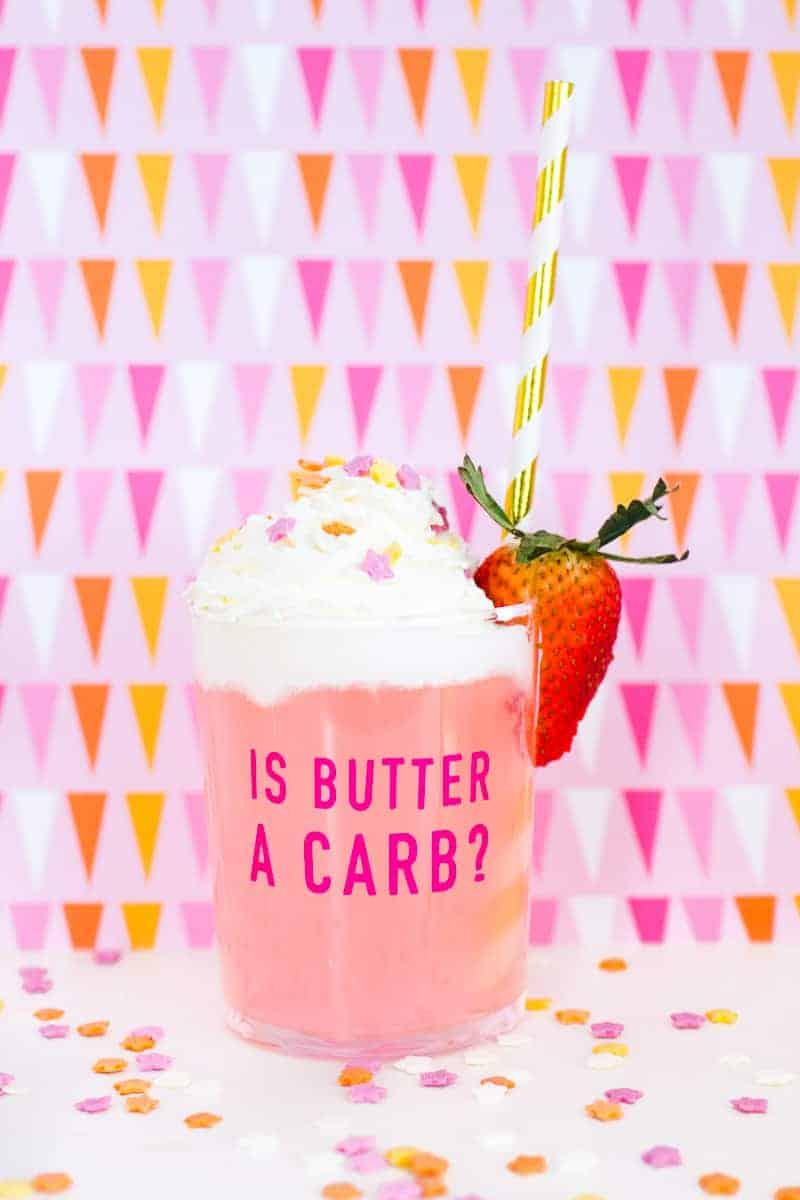 DIY Mean Girls Quotes Glasses vinyl stickers fun lyrics bridal shower bachelorette party hen pink_-28