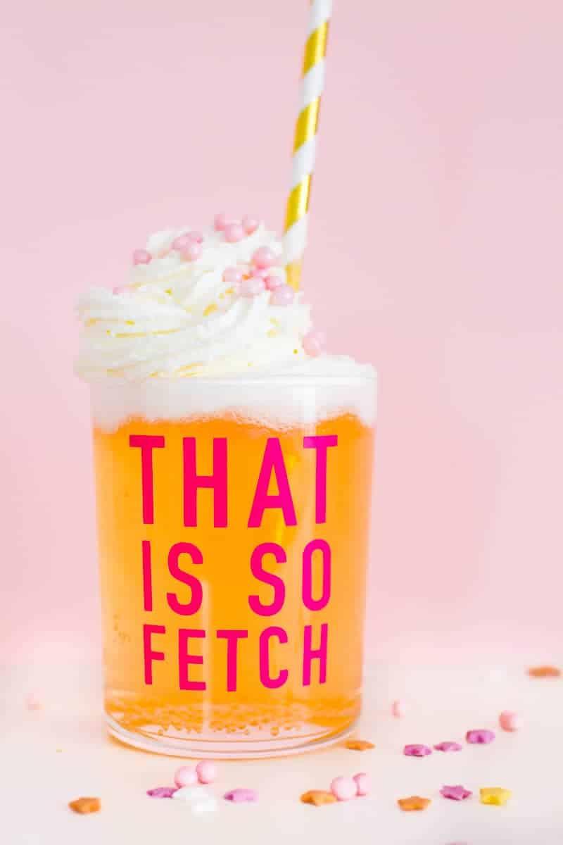 DIY Mean Girls Quotes Glasses vinyl stickers fun lyrics bridal shower bachelorette party hen pink_-6