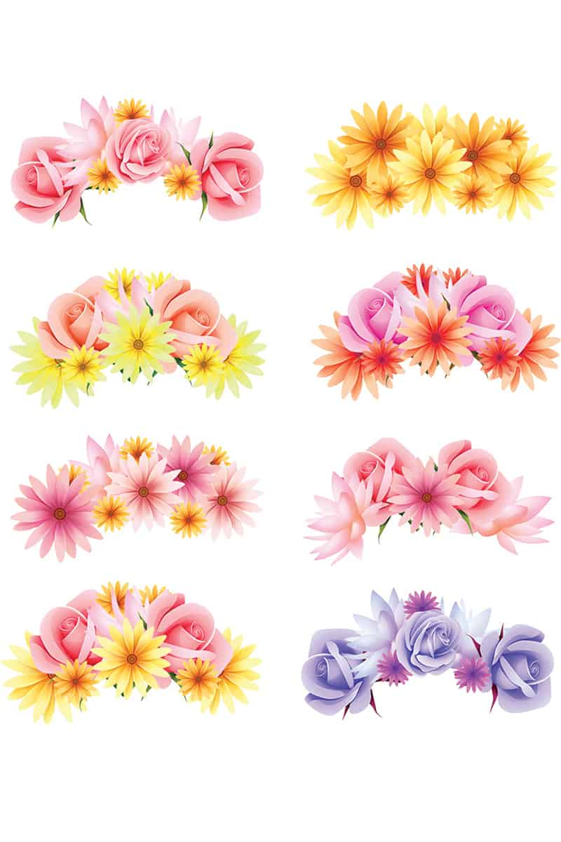 Photo Booth Props Printable Flower Crowns Hen Party Bachelorette Party Bridal Shower Download Floral-15