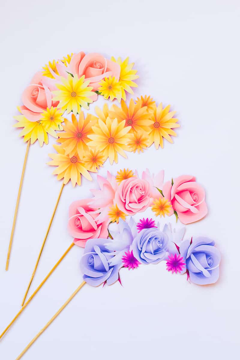 Free Printable Photo Booth Flower Crown Props For Your Wedding
