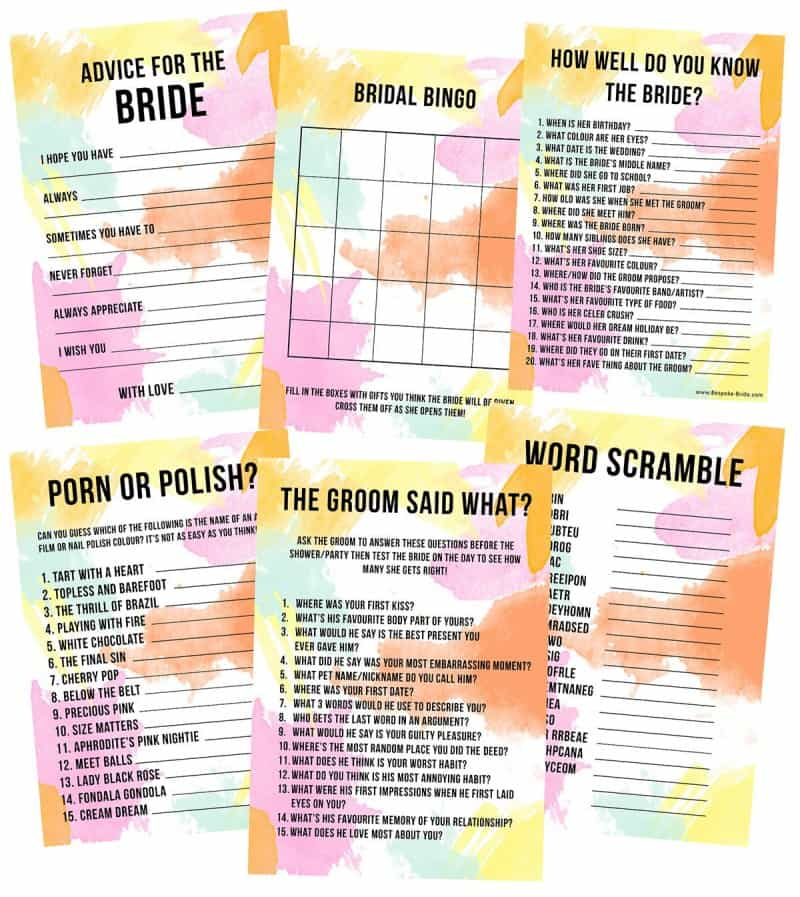 throw the ultimate bridal shower with these fun accessories bridal_shower_games_hen_party_bachelorette_party_watercolour_3_1024x10242x