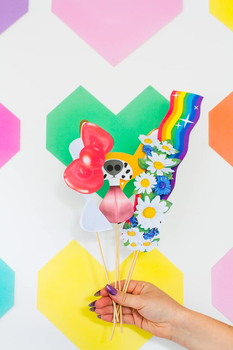 Easy DIY Backdrop Altar Paper Colourful Fun Geometric Heart Tutorial-5