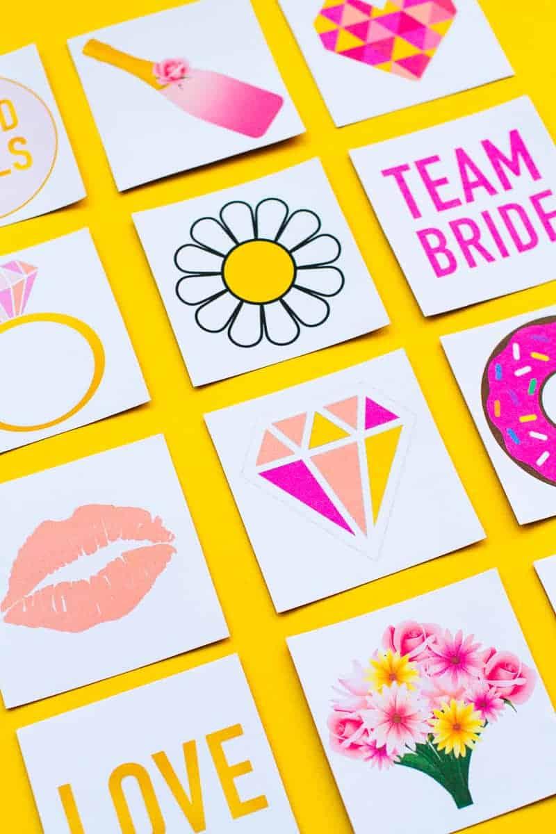 Free Printable Memory Game Bridal shower Bachelorette fun easy girlie pink download-10