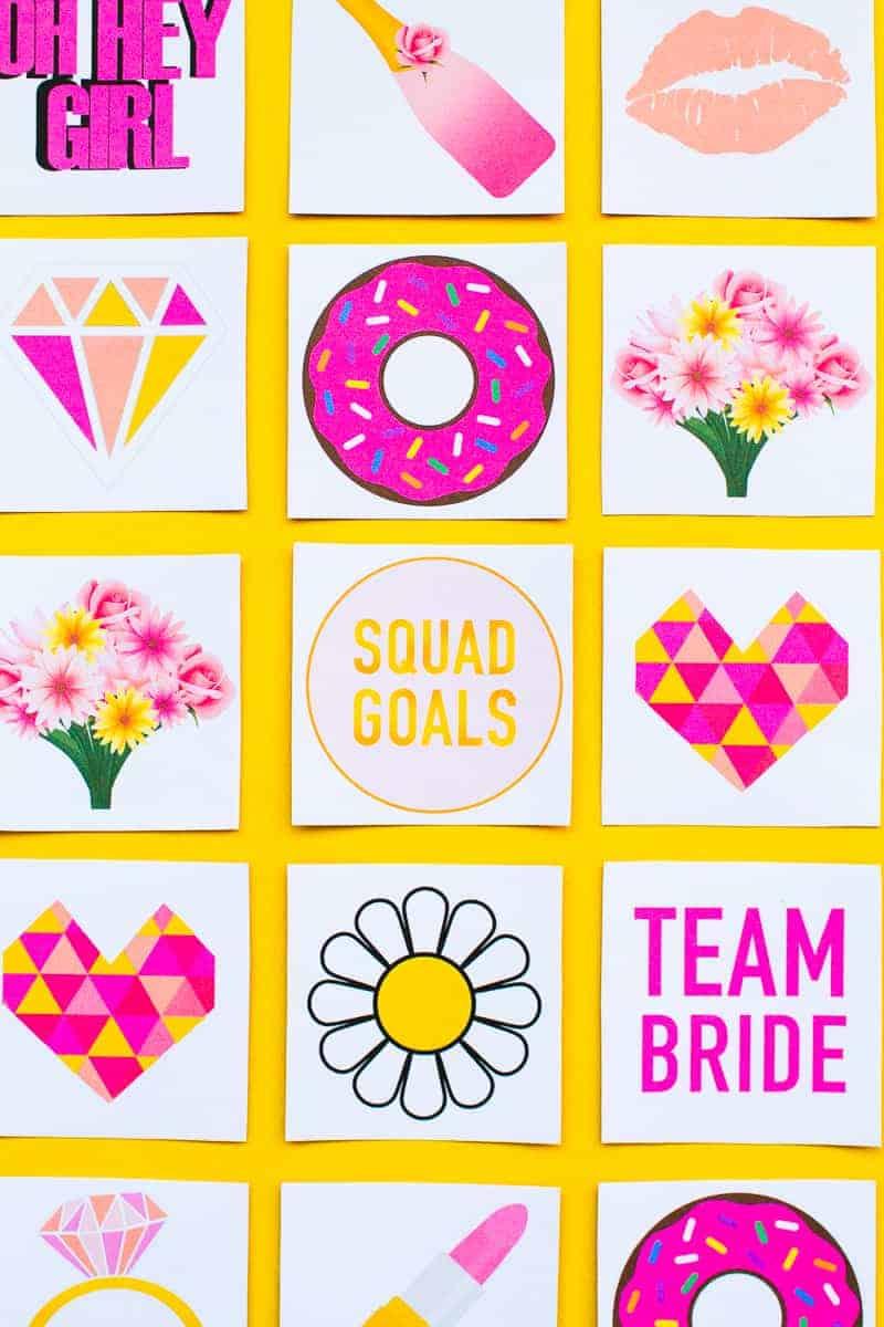 Free Printable Memory Game Bridal shower Bachelorette fun easy girlie pink download-13