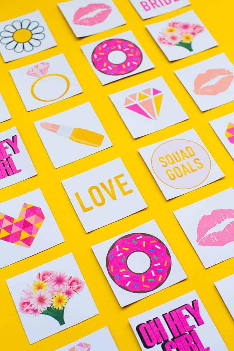 Free Printable Memory Game Bridal shower Bachelorette fun easy girlie pink download-2