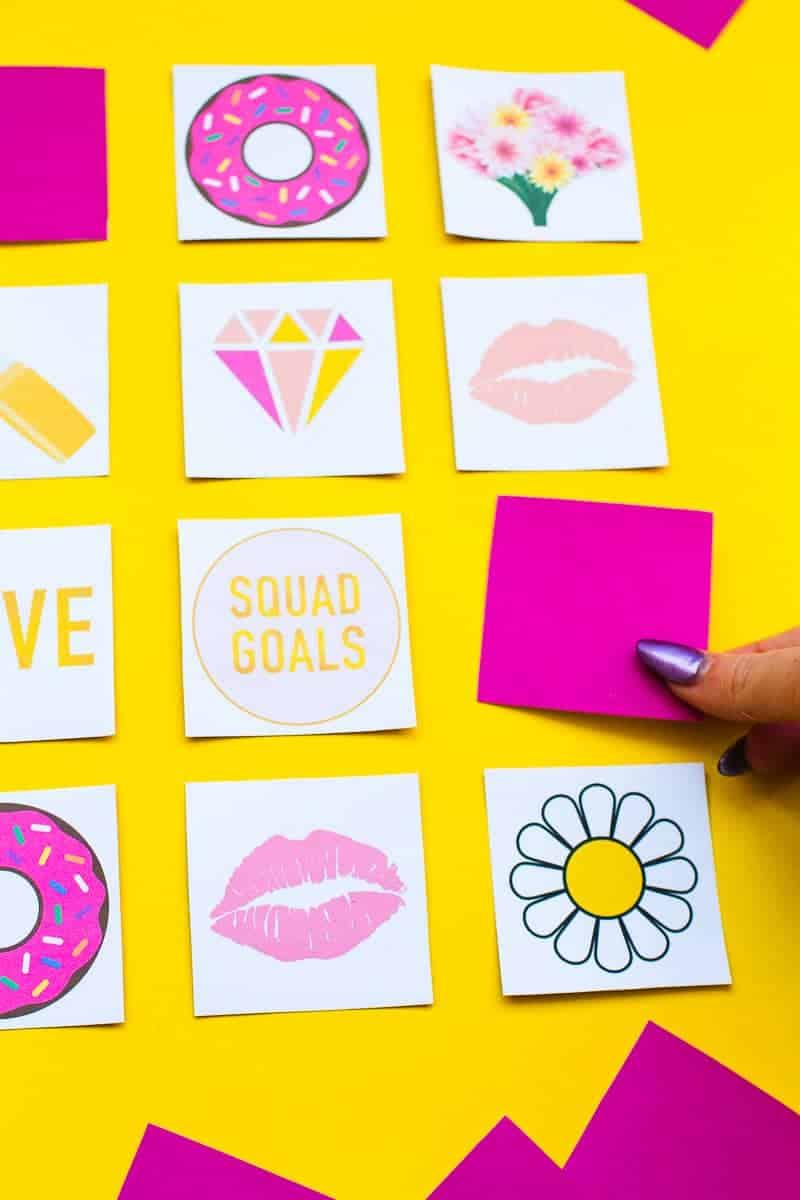 Free Printable Memory Game Bridal shower Bachelorette fun easy girlie pink download-4