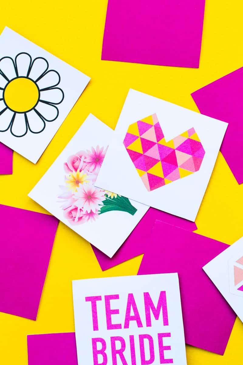 Free Printable Memory Game Bridal shower Bachelorette fun easy girlie pink download-9
