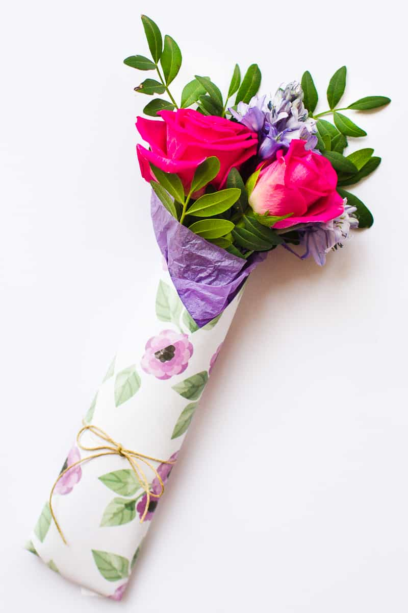 Mothers Day Flower Gift Wrap Free Printable Download Floral Flower_-10