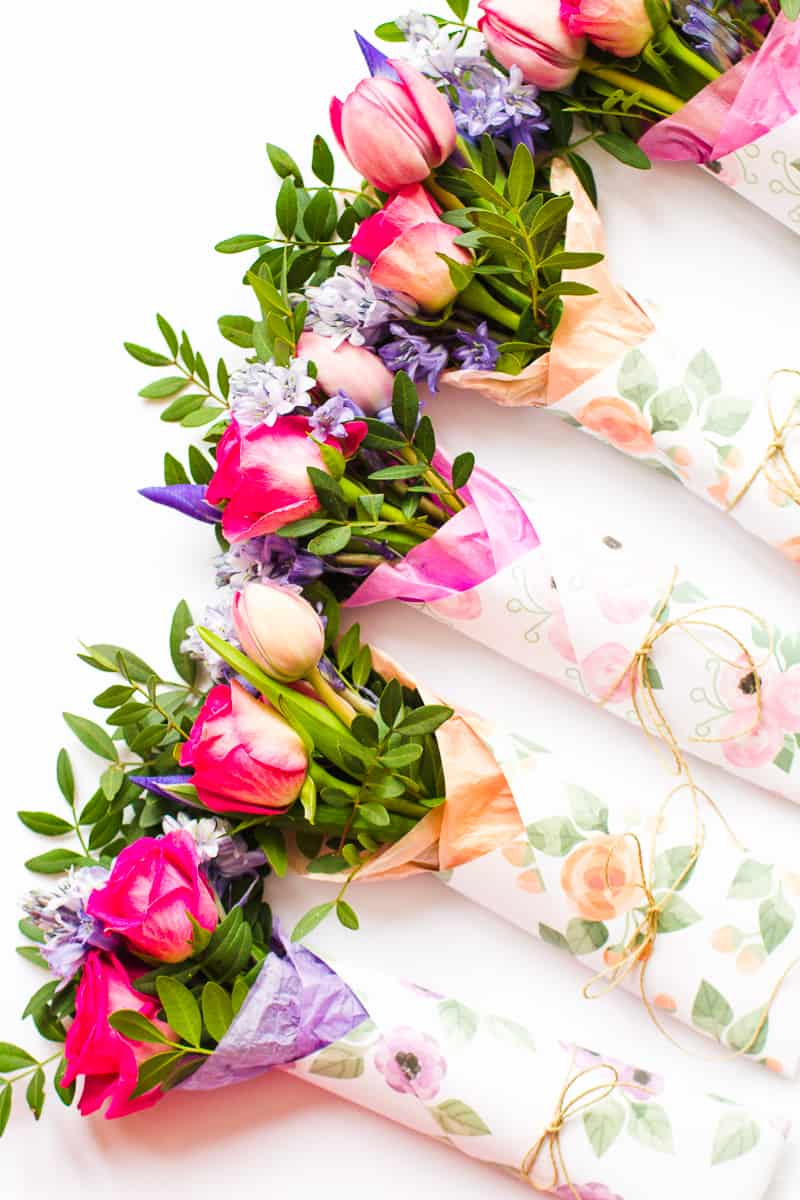 Mothers Day Flower Gift Wrap Free Printable Download Floral Flower_-13
