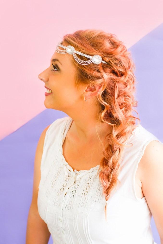 how to wear wedding headband with hairstyle wedding