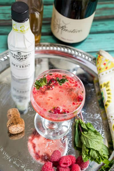 Raspberry-Mint-Prosecco-Cocktail