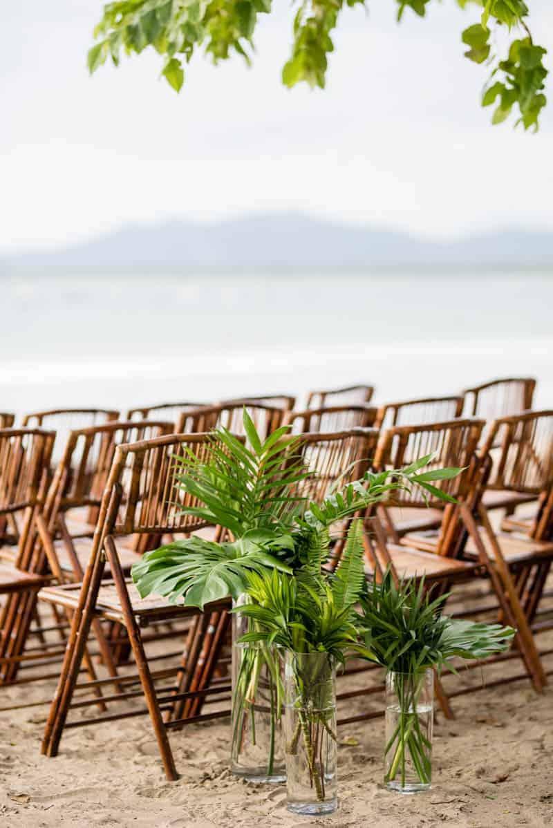 tropical beachfront wedding in costa rica bespoke bride wedding blog