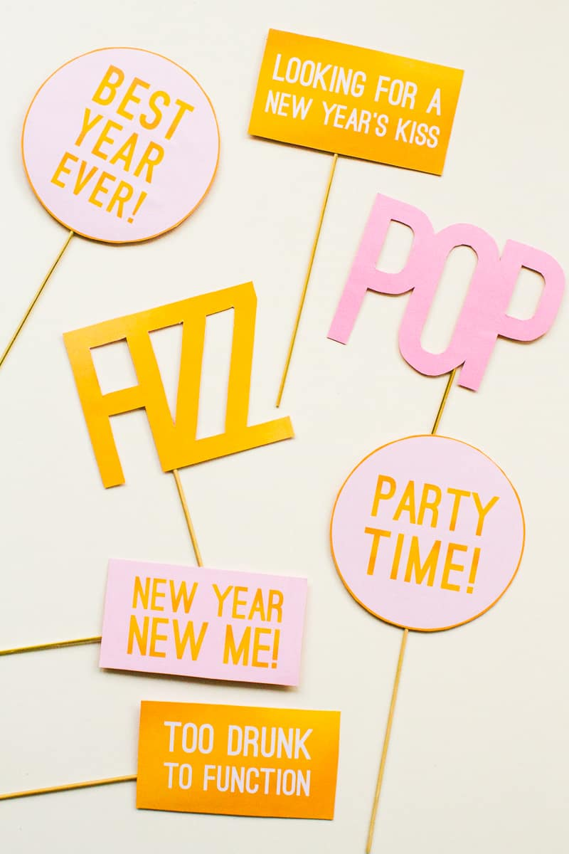 Printable New Years Eve Party Photo Booth Props Bespoke Bride