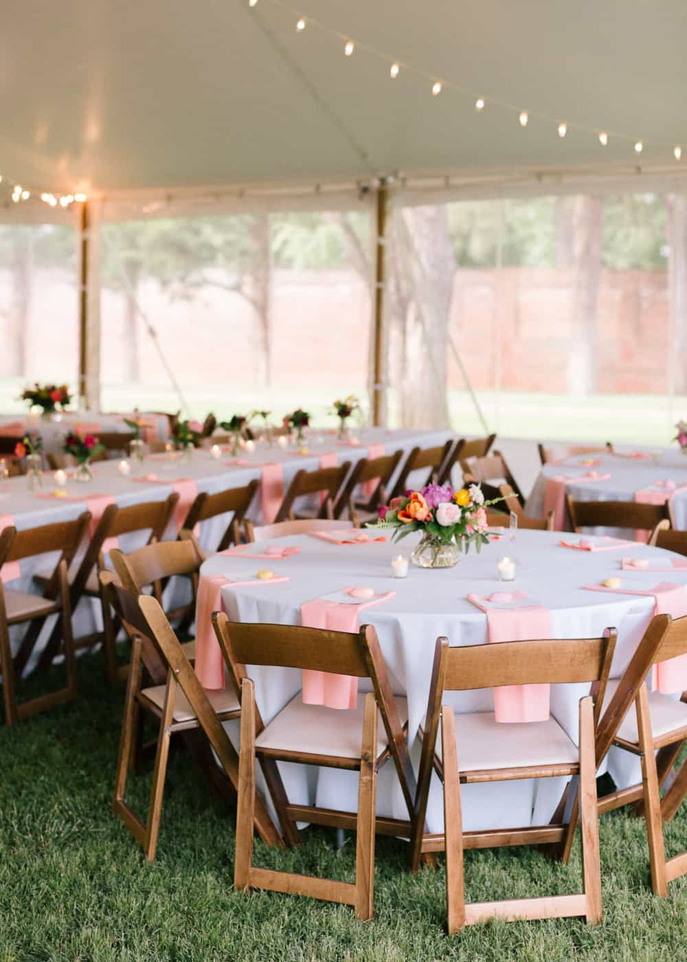 A Colourful Modern Wedding With Bright Florals Pink Shoes A Donut